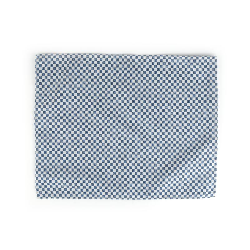 Bunzlau Castle placemat blauw checkered 35x45 cm