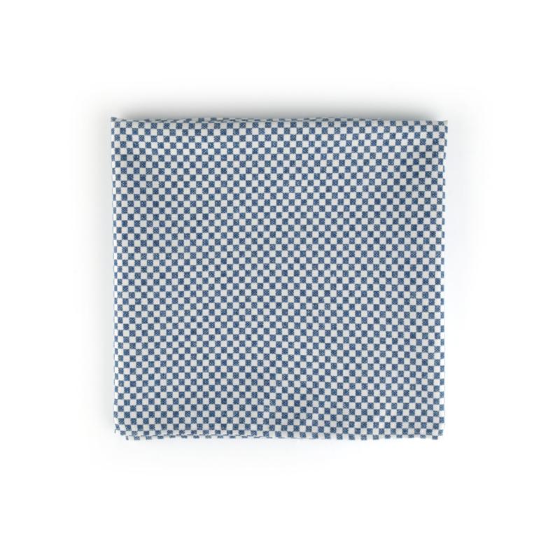 Bunzlau Castle tafellaken blauw checkered 140x260