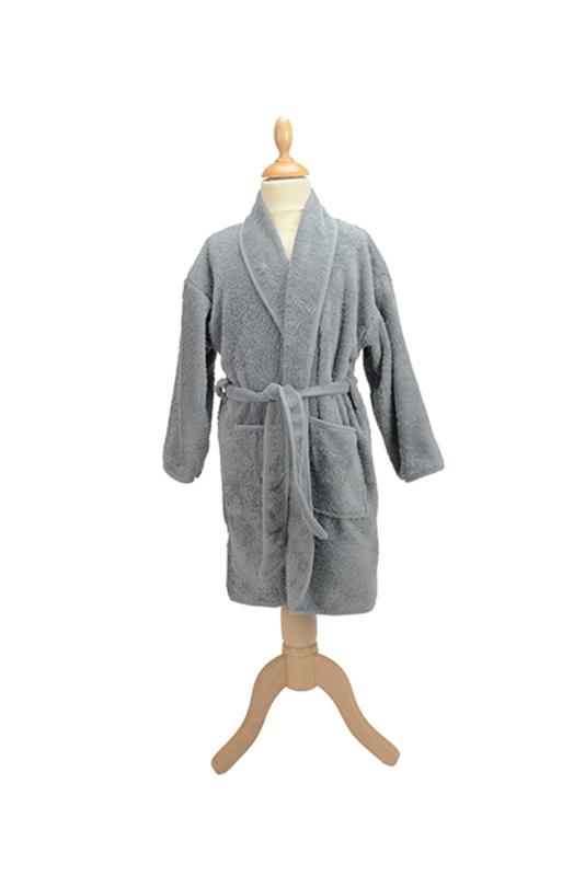 Kinderbadjas badstof A&R kleur grijs maat 80 t/m 164