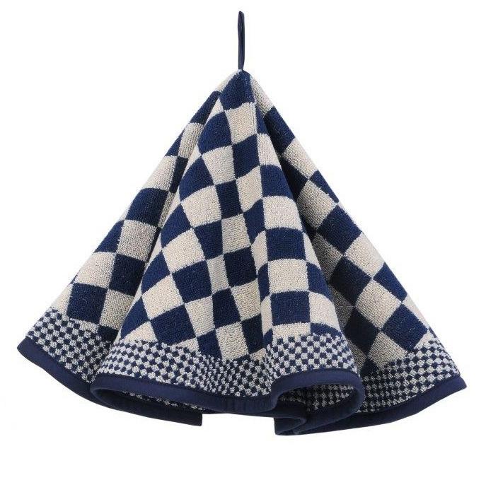 Ronde keukendoek (handdoek) Elias blauw