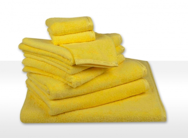 Gastendoekjes A&R 30x50 cm geel set 6 stuks