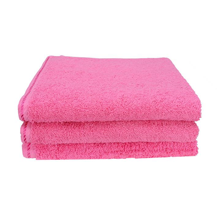Handdoek A&R 50x100 cm pink set 3 stuks