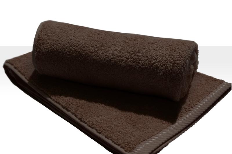 A&R strandlaken badstof 100x210 cm chocoladebruin badstof