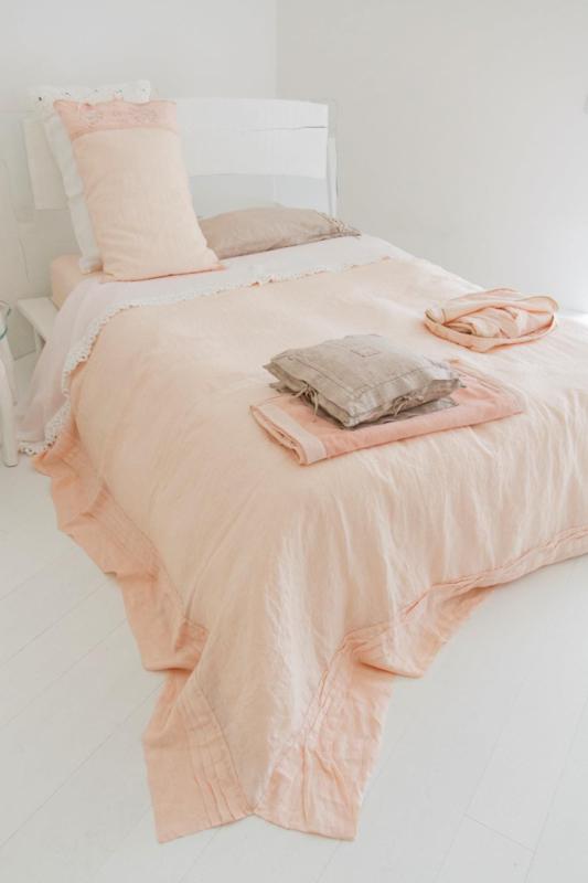 Arte Pura lichtgewicht sprei Prunello linnen 270x270 cm