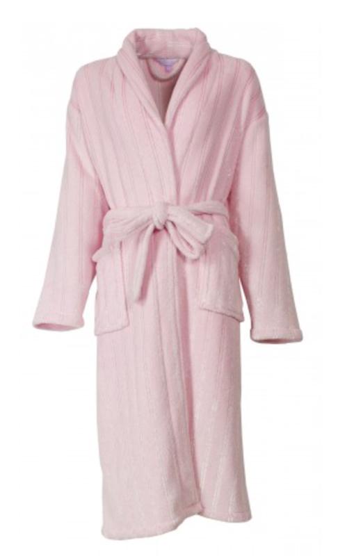 Badjas coral fleece Tenderness kleur roze maat XL