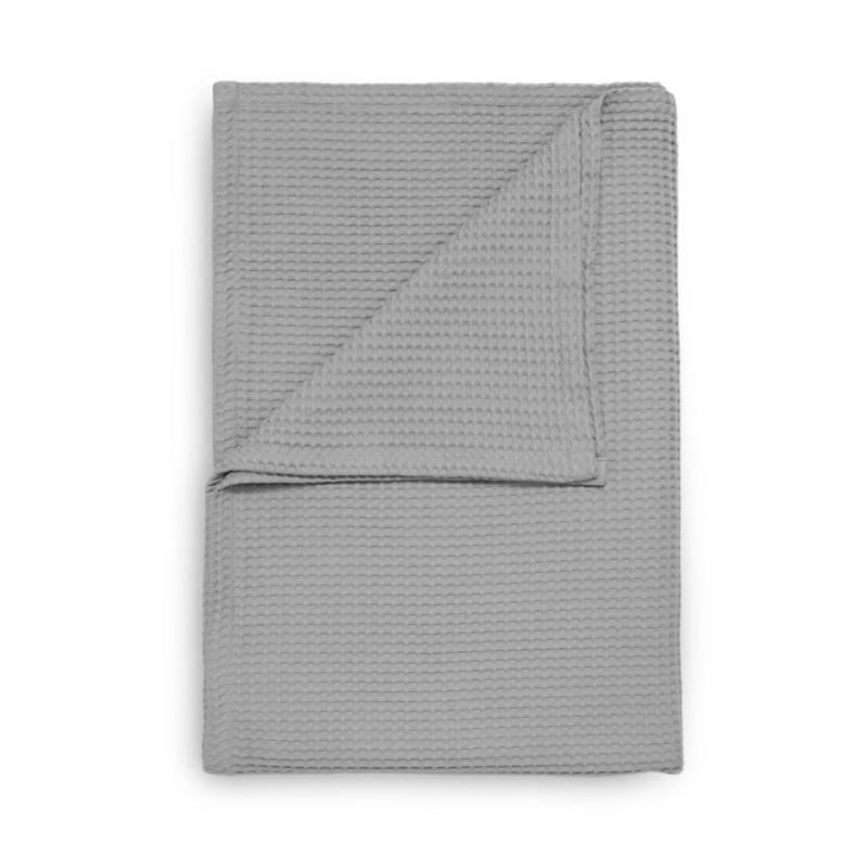Heckett & Lane wafel plaid Cuban kleur grijs 180x260 cm of 240x260 cm