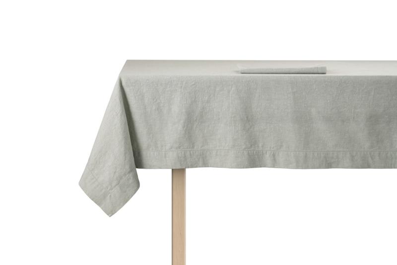 Tafelkleed ontbijtlaken Elias Noble 160x250 cm of 160x350 cm, grijs half linnen