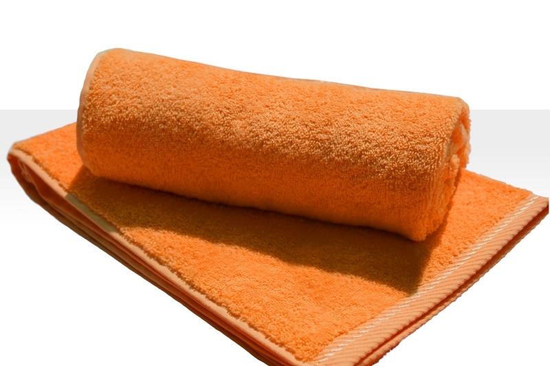Strandlaken A&R 100x180 cm oranje badstof