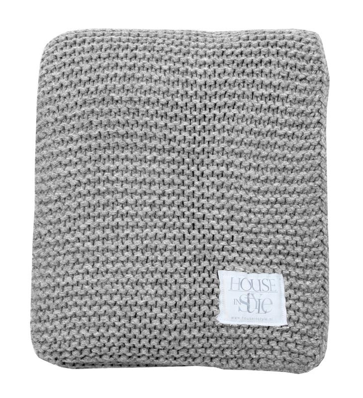 Plaid House in Style Devon grijs 130x240 cm 80% wol 20% polyester