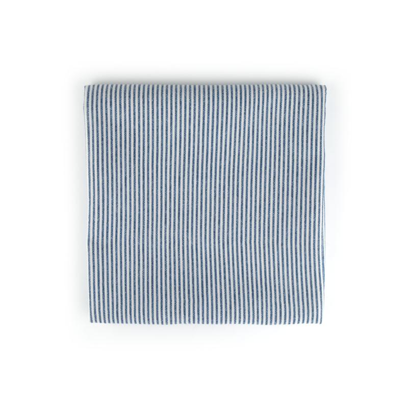 Bunzlau Castle tafellaken blauw stripe 140x260