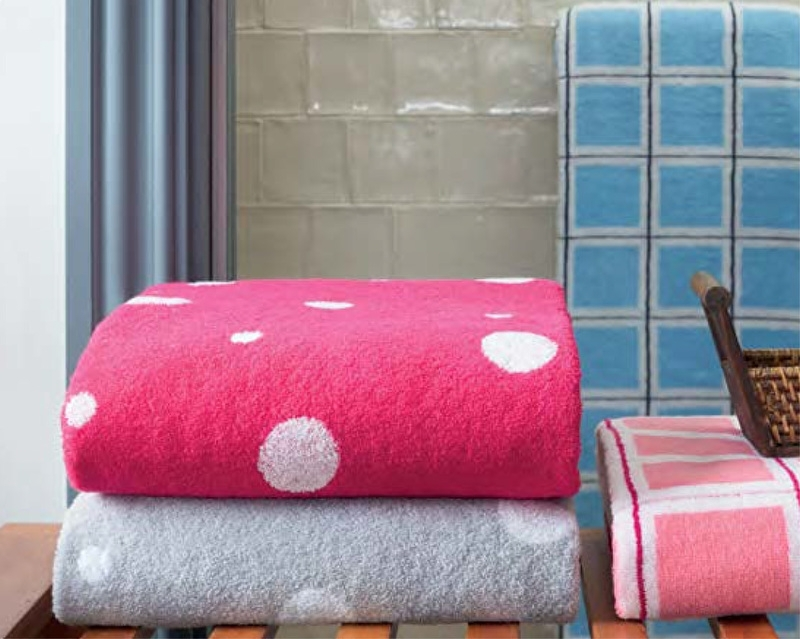 Saunalaken  Lasa Rings  85x200 cm pink of grijs