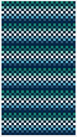 Strandlaken  Arkhipelagos Squares blauw  100x180 cm