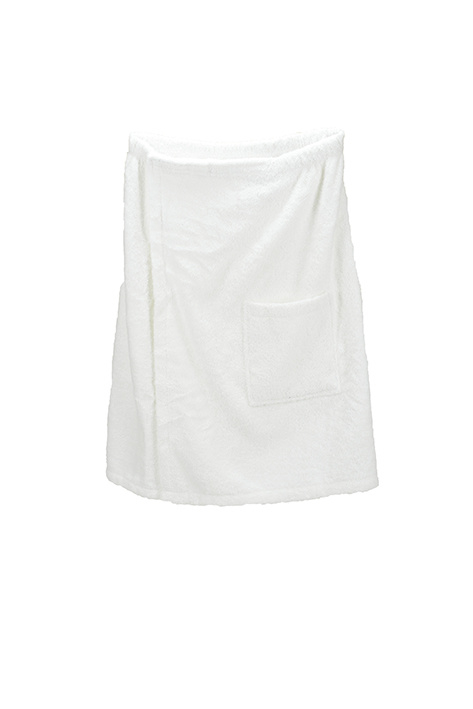 A&R heren saunakilt badstof verstelbaar met klitteband kleur wit