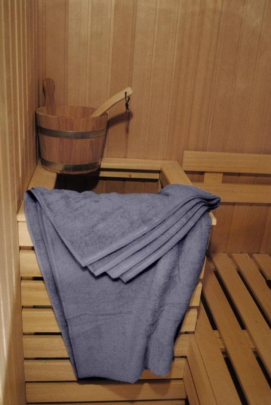 A&R saunalaken 100x210 cm antracietgrijs badstof