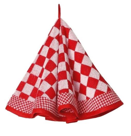 Ronde keukendoek (handdoek) Elias rood