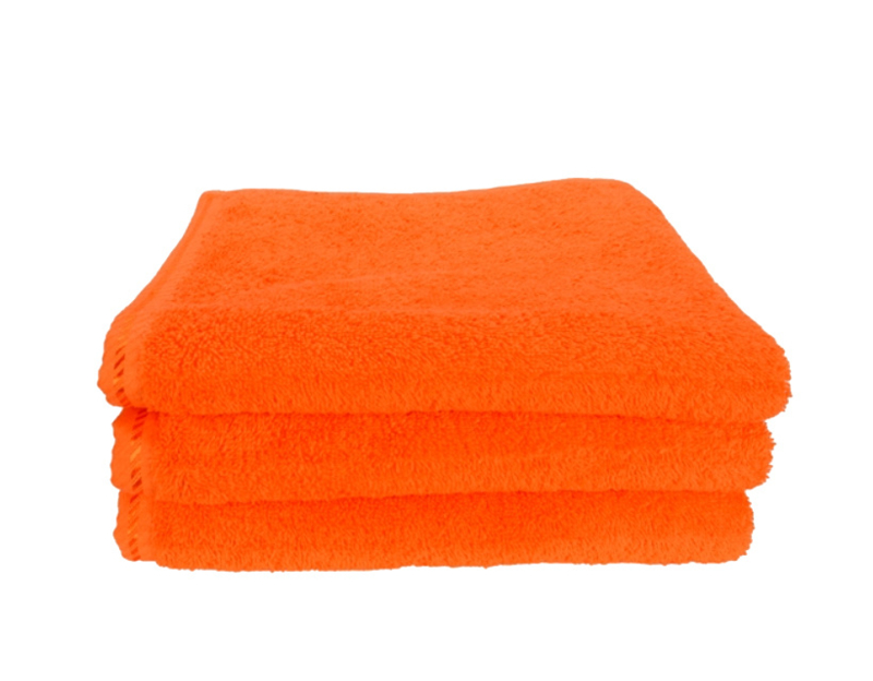 Handdoek A&R 50x100 cm oranje set 3 stuks