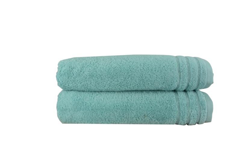 A&R handdoek organic 60x110 cm kleur green set van 2 stuks