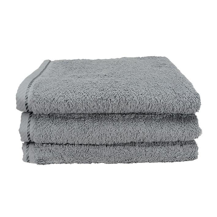 Handdoek A&R 50x100 cm antracietgrijs set 3 stuks