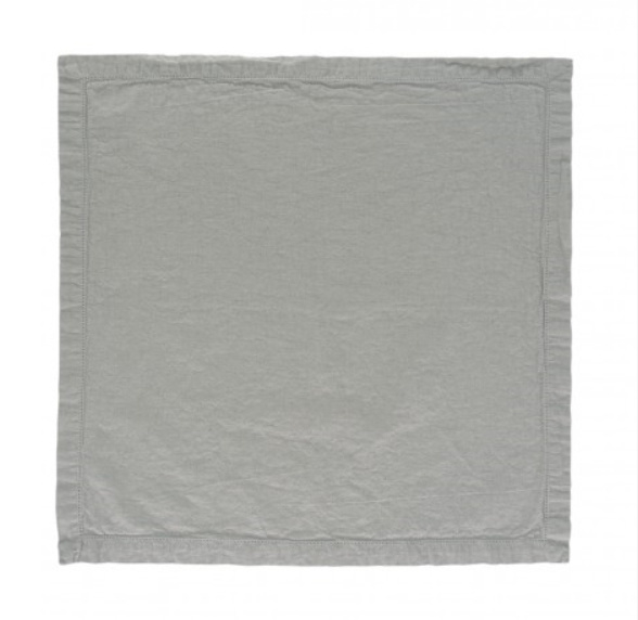 Servet Elias Noble 50x50 cm kleur grijs half linnen