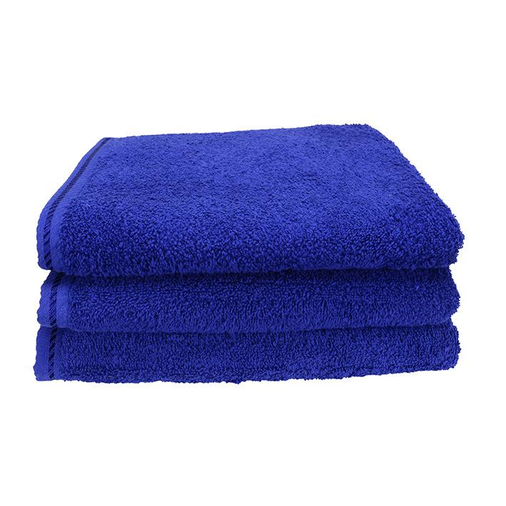 Handdoek A&R 50x100 cm true blue set 3 stuks