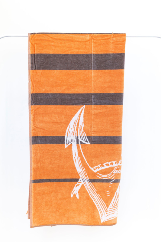 Strandlaken Arkhipelagos Sea Anchor  bruin - oranje 100x200 cm