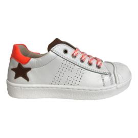 EB Shoes6119TT1 jongens sneaker wit oranje
