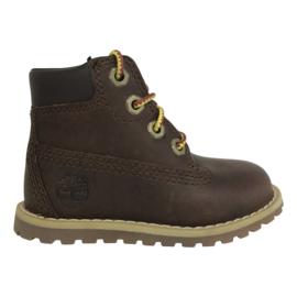 Timberland Pokey Pine boots met rits  dk brown