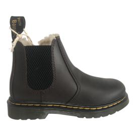 Dr. Martens 2976 Chelsea boots gevoerd donker bruin