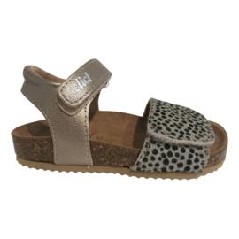 Clic CL-GRASS Sandaal met voetbed khaki met stip