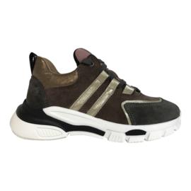 Clic CL-20339 meisjes sneaker taupe