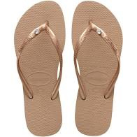 Havaianas Slipper Slim Crystal Glamour Rose Gold