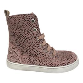 Shoesme UR21W067-C Meisjes Veterschoen Urban - Pink black dots