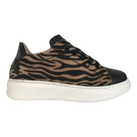 SHO.E.B.76 1704B6P meisjes sneaker zwart zebra