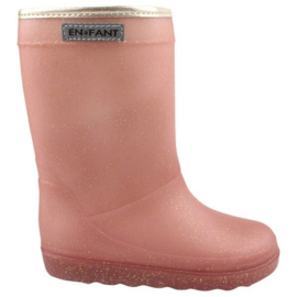 Enfant thermoboots rose goud glitter