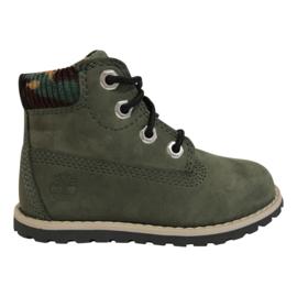 Timberland Pokey Pine boots met rits groen