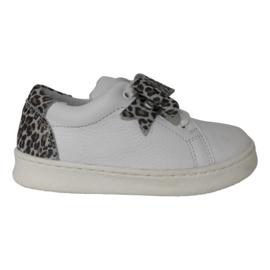 Clic CL-9124 meisjes sneaker Blanco Jaquar met veters en rits