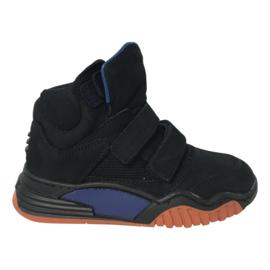 Hip H1093  halfhoge jongensschoen met klittenband Donkerblauw