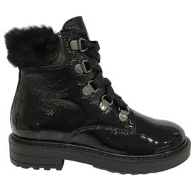 Beberlis 22037 meisjes veter boots zwart