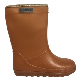 Enfant thermoboots Leather brown glitter