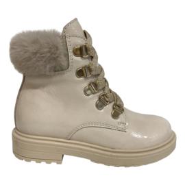 Beberlis 22037-B meisjes veter boots beige