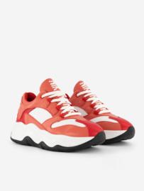 Nik & Nik Kay sneakers leer met logo Nik & Nik rood roze