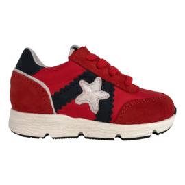 Pinocchio P1874 Sneaker Rood Combi