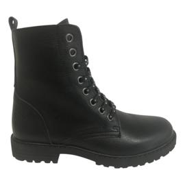 Clic CL-9584 meisjes veter boots met gouden veters
