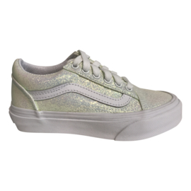 Vans Old Skool UV Glitter wit/roze, kleurt roze in de zon