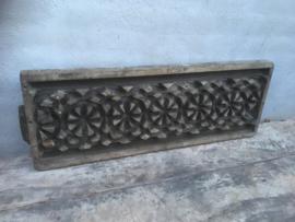 Prachtig groot origineel oud paneel mal van plafondornament cm Wandpaneel wandornament Luik landelijk
