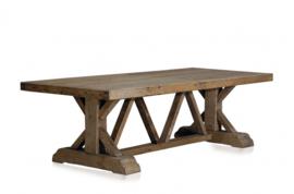 Grote oud grenen tafel eettafel boerentafel landelijk stoer robuust doorleefd 330 x 110 cm antiek gerecycled grenen vergrijsd