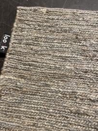Groot vlakgewoven 100 % hennep vloerkleed kleed carpet karpet middle grey 200 x 140 cm