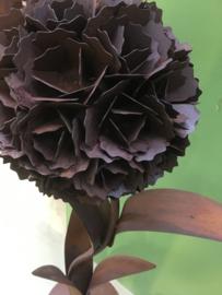 Grote metalen bloem 125 cm tuindecoratie roest lelie tulp roest groot