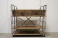Industrieel trolley kast metaal hout stoer landelijk keukentrolley ladekast Sidetable dressoir