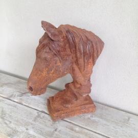 Groot gietijzeren paard paardekop paardehoofd